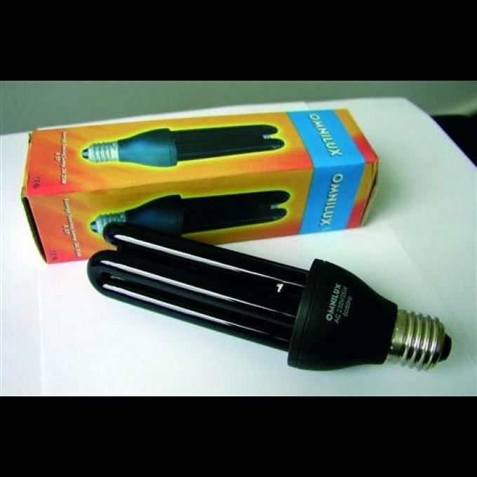 UV kompaktná žiarivka 15W, čierne svetlo E27 Omnilux