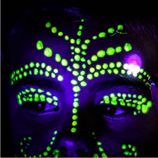 Fosforová farba na telo na tvár 10ml, bodypainting