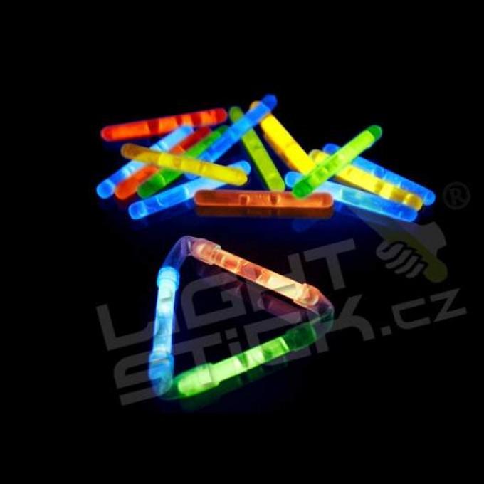 Svietiaca tyčinka 50 ks, (chemické svetlo) Lightstick MINI 4 cm, výber farieb