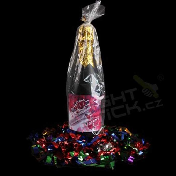 Vystreľovacie konfety Šampanské, metalické, 8-12 metrov