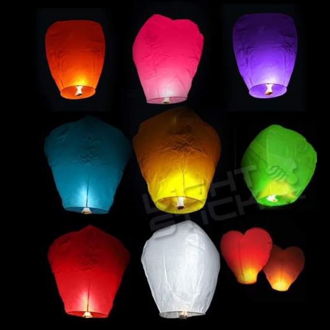 Lampióny šťastia, lampióny priania