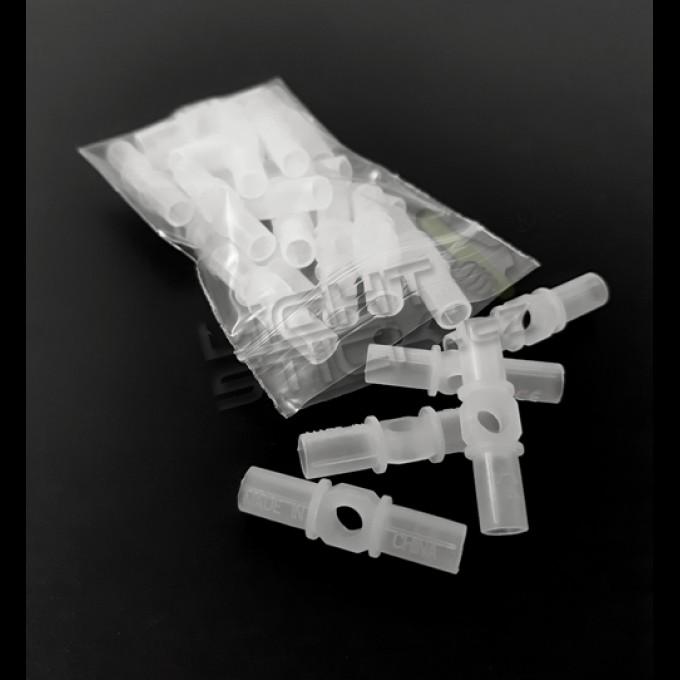 Spojky na náramky speciál, 25 kusov, so stredovým otvorom