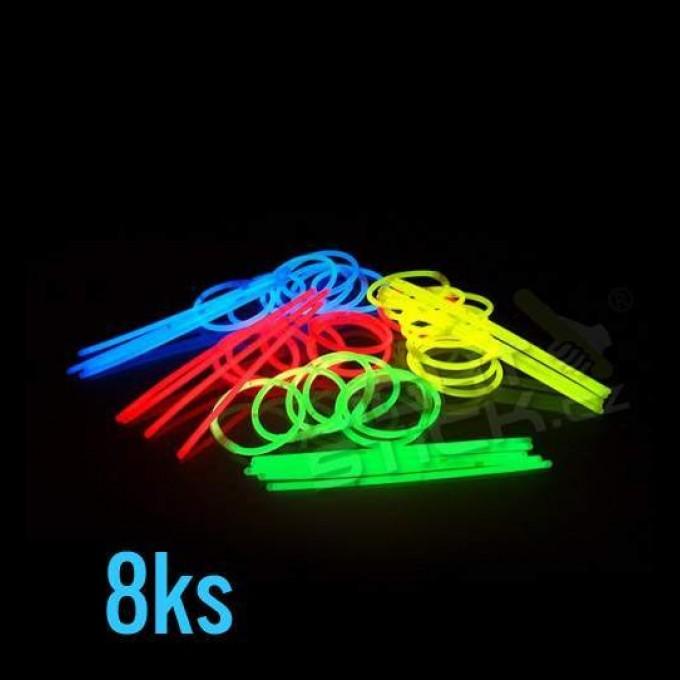 Svietiace náramky - tyčinky, 8ks, mix fariebv