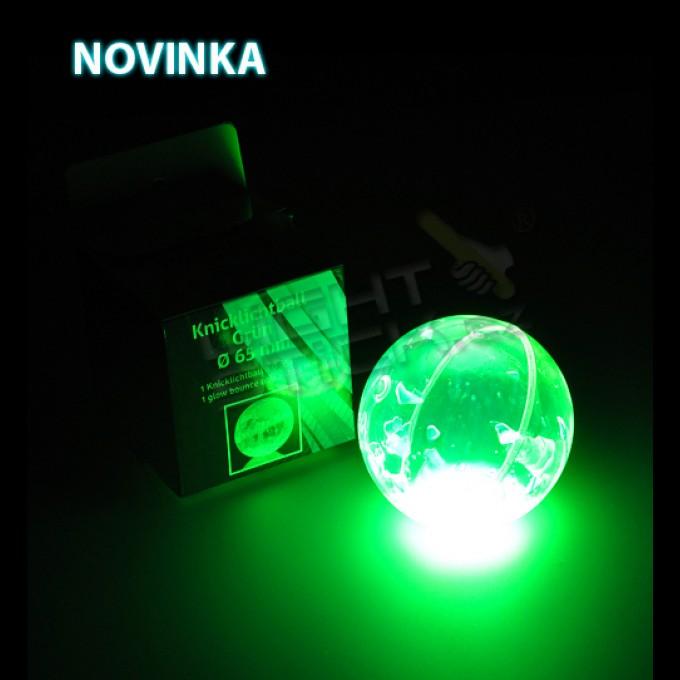 Svietiaca lopta zelená Ø 6,5 cm