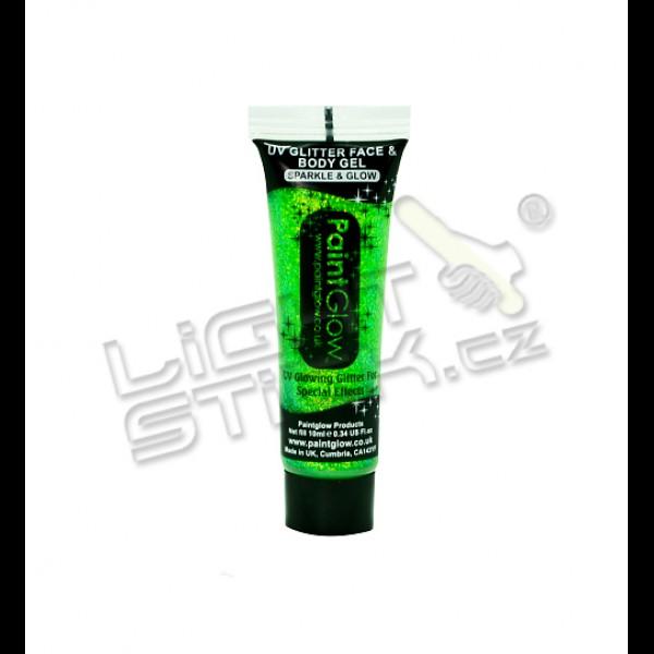 Třpytkový gel na tělo a obličej 10ml,UV, bodypainting