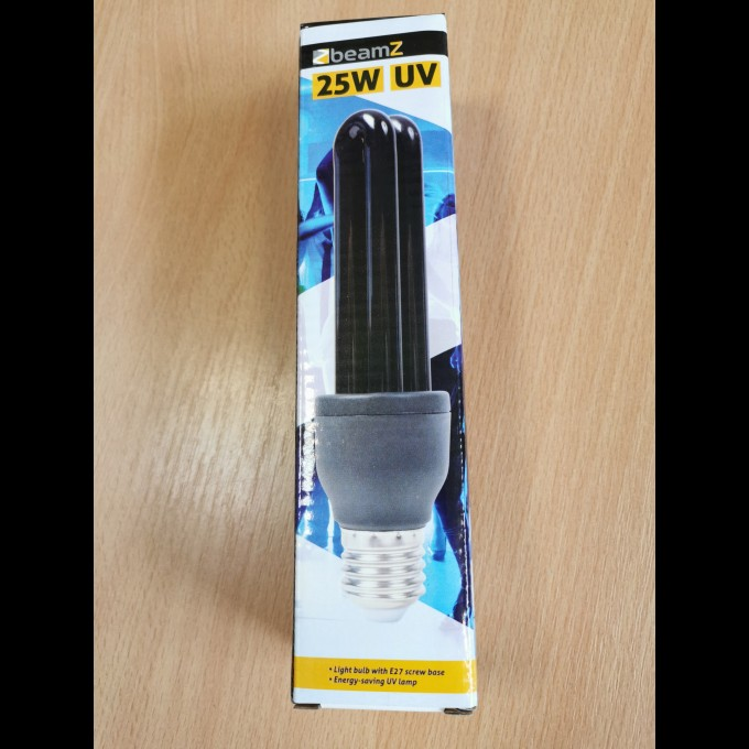 UV kompaktná žiarivka 25W, čierne svetlo E27